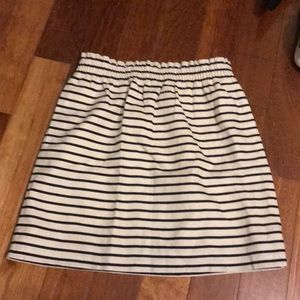 NWT Navy striped Jcrew skirt